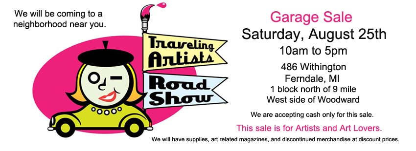 Traveling Artists Roadshow Garage Sale