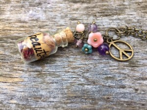 peace sign vial necklace breathingmoment